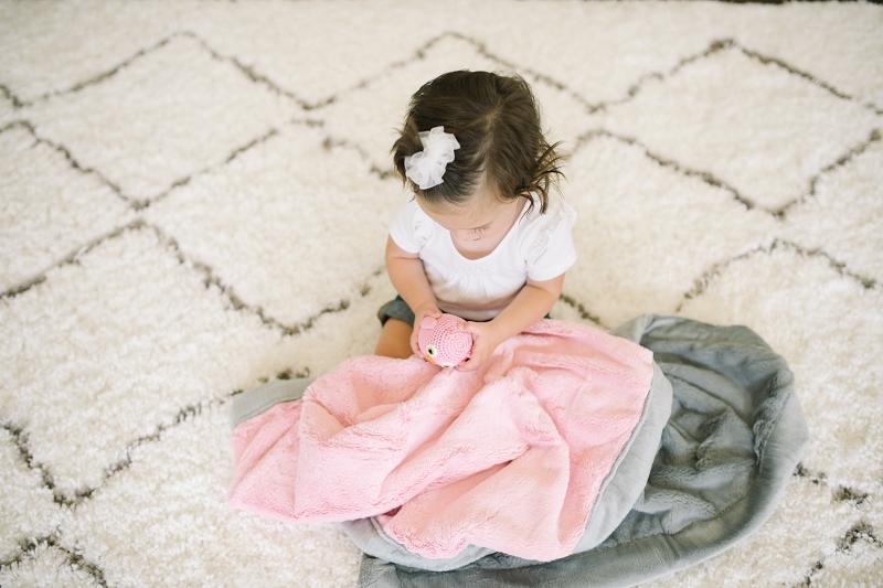 Saranoni Pink Amp Grey Lush Blanket Yummy Baby Blankets