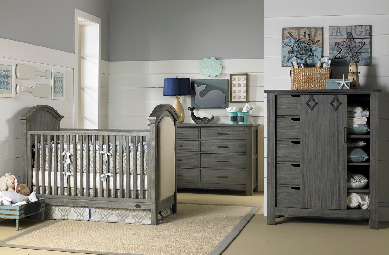 Dolce Baby Lucca Full Panel Crib In Weathered Grey From Bivona