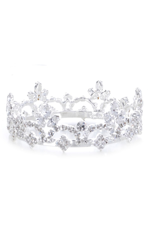 Enchanted Shimmer Sophia Rhinestone Crown With Swarovski