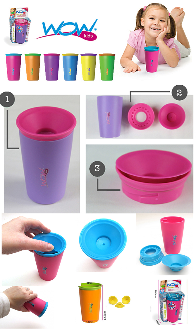 Wow Cup For Kids Pink Spill Free Drinking Cup For Kids