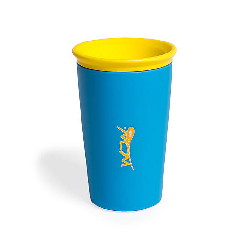 Wow Cup For Kids Blue Spill Free Drinking Cup For Kids