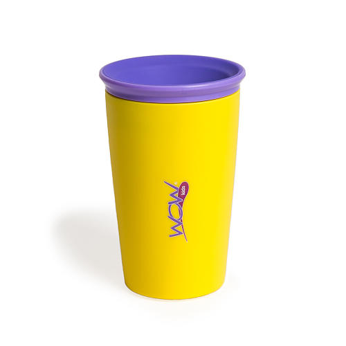 Wow Cup For Kids Yellow Spill Free Drinking Cup For
