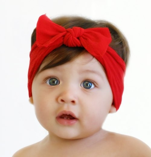 Baby Bling Bow Knot Headband In Cherry Pink Shop Soft