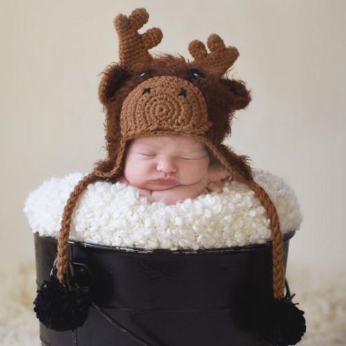 Huggalugs Moose Beanie