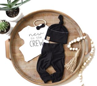 New to the Crew Onesie - White & Black