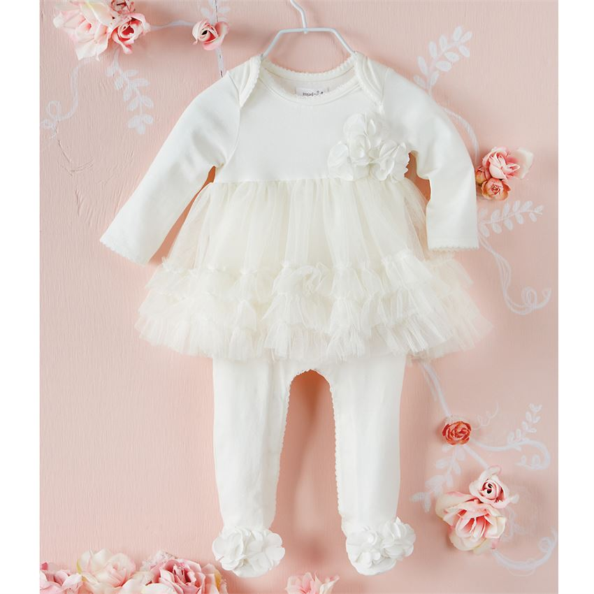 Mud Pie Mesh Skirted Sleeper | Hospital Outfits for Sweet Baby Girls!