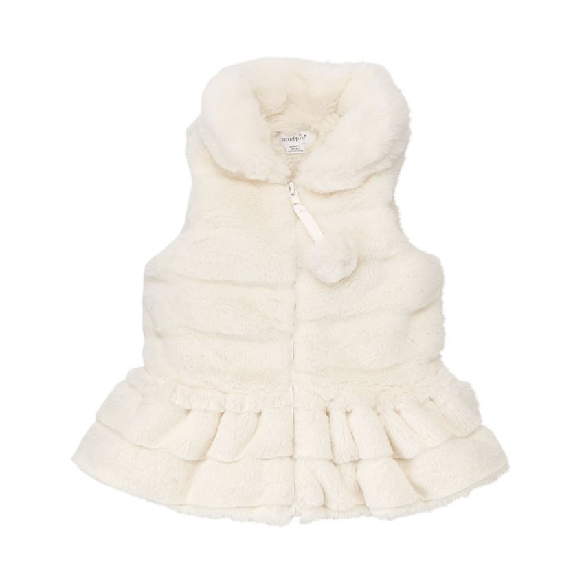 Mud Pie Ivory Fur Vest Shop The Fall 2018 Back To School