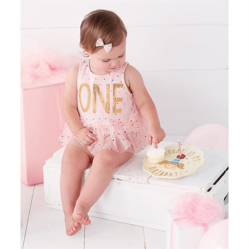 f1b5b3e81 Mud Pie Confetti First Birthday Crawler