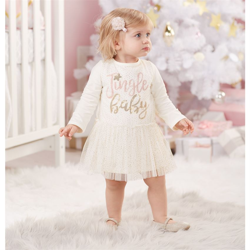 Mud Pie Jingle Baby Dress| Christmas Outfits for Sweet Baby Girls!