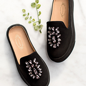 Joyfolie Sia Slide - Black