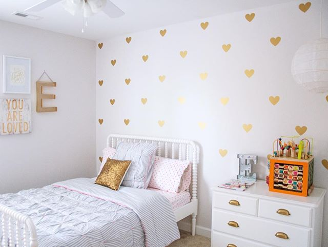 gold hearts wall decal - urban walls at sugarbabies