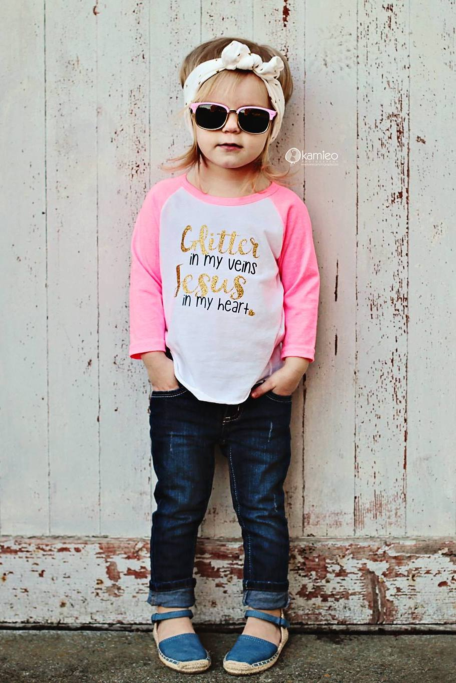 A glitter raglan tee in bright pink is the perfect casual outfit for your princess! | Isn't She Lovely! - SugarBabies Blog