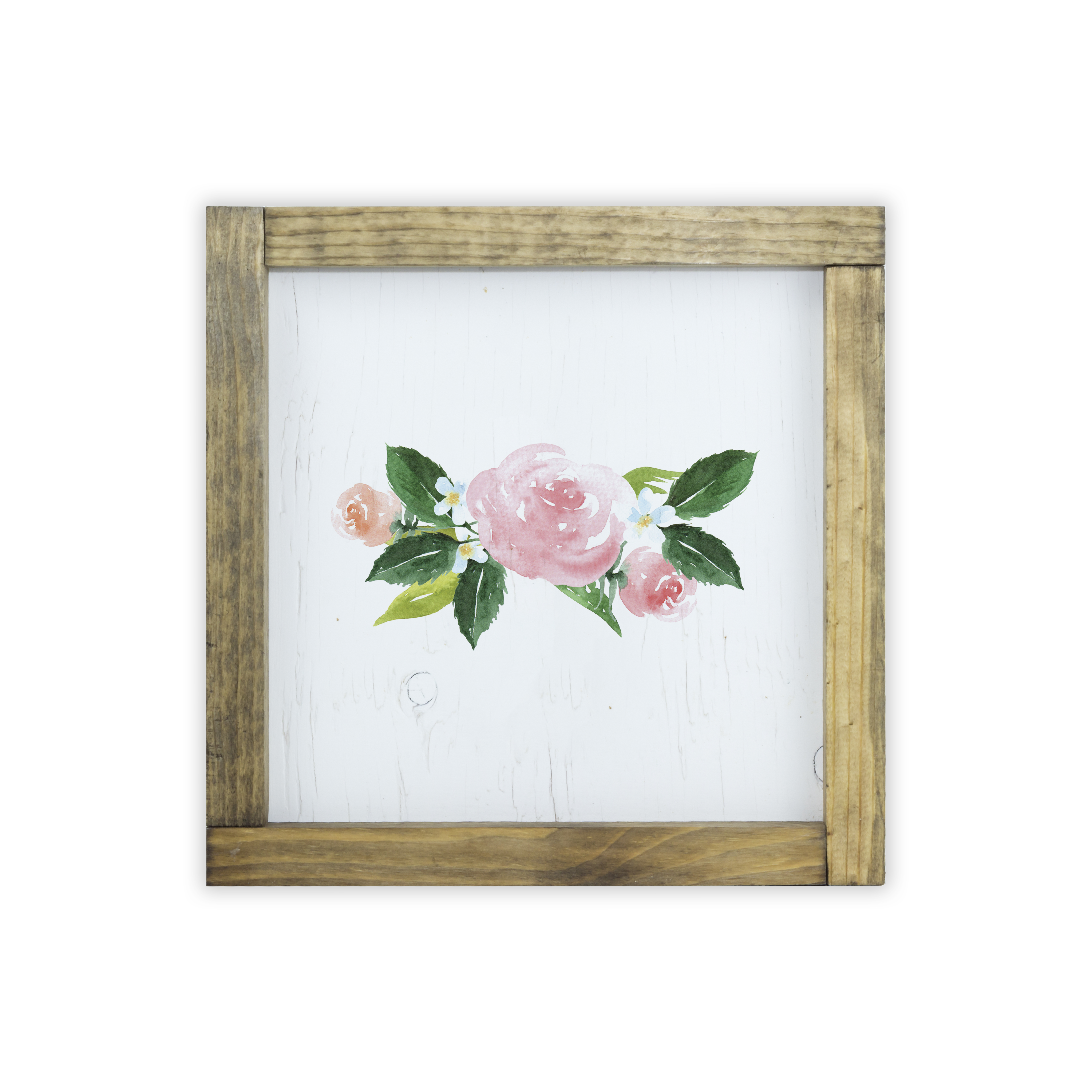 Twelve Timbers Watercolor Frame Print Flower Arrangement