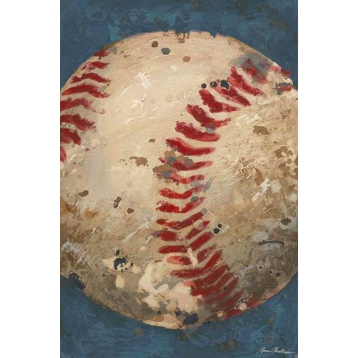 Vintage Baseball Canvas - Blue