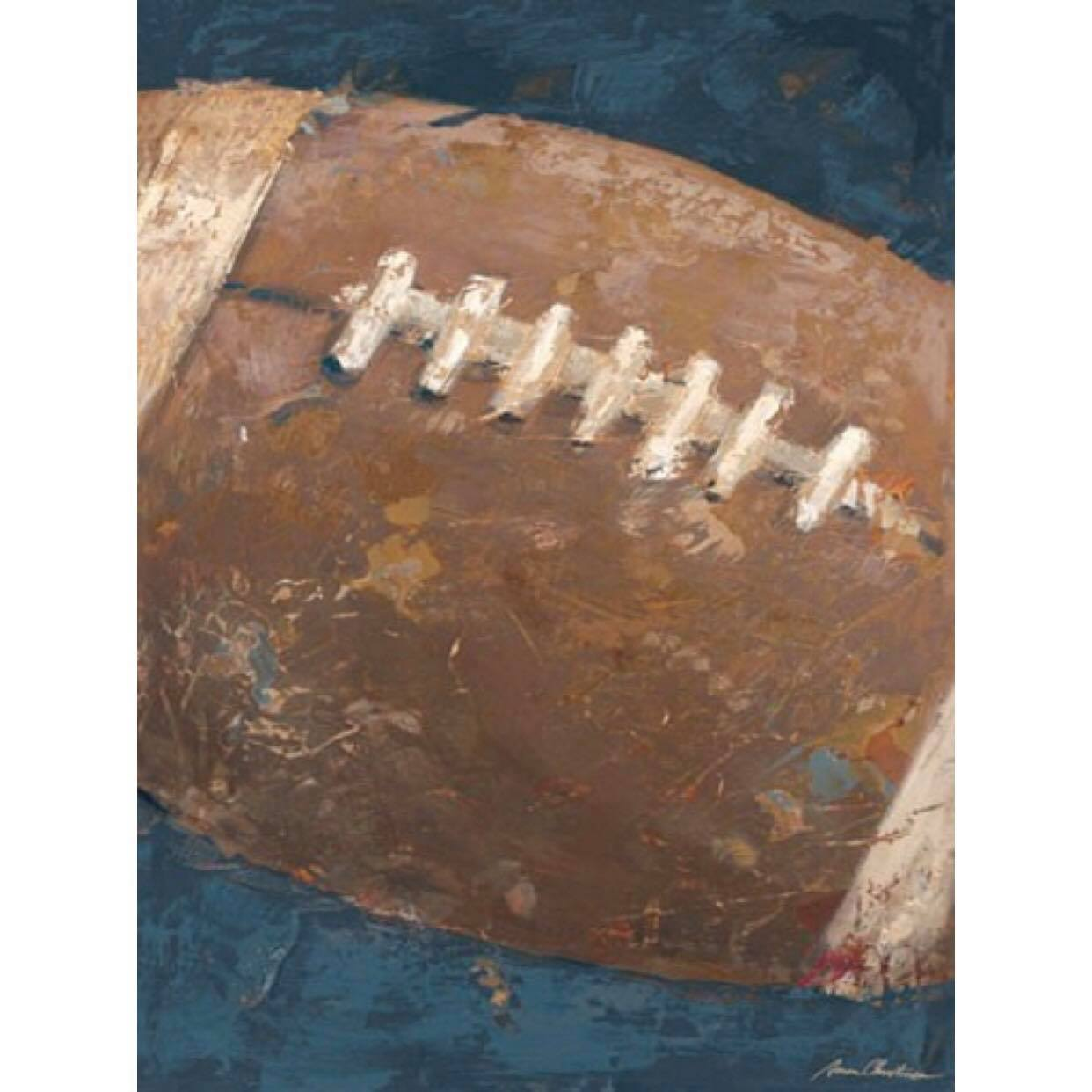 Vintage Football Canvas - Blue