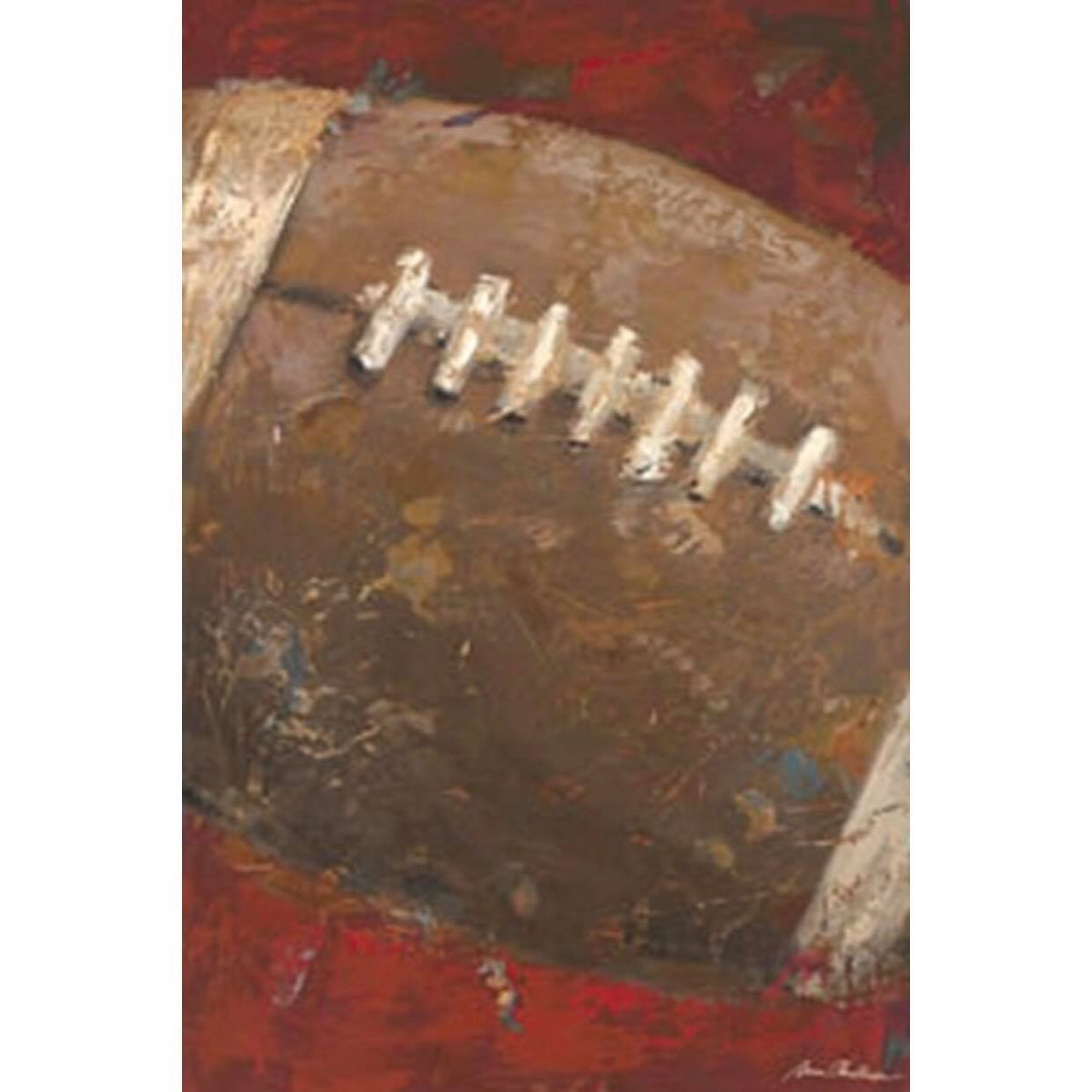 Vintage Football Canvas - Red