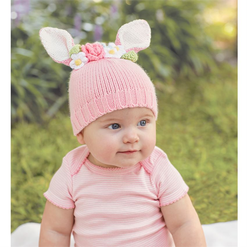 Bunnies and Bows - Mud Pie Bunny Flower Crown Hat | SugarBabies Blog