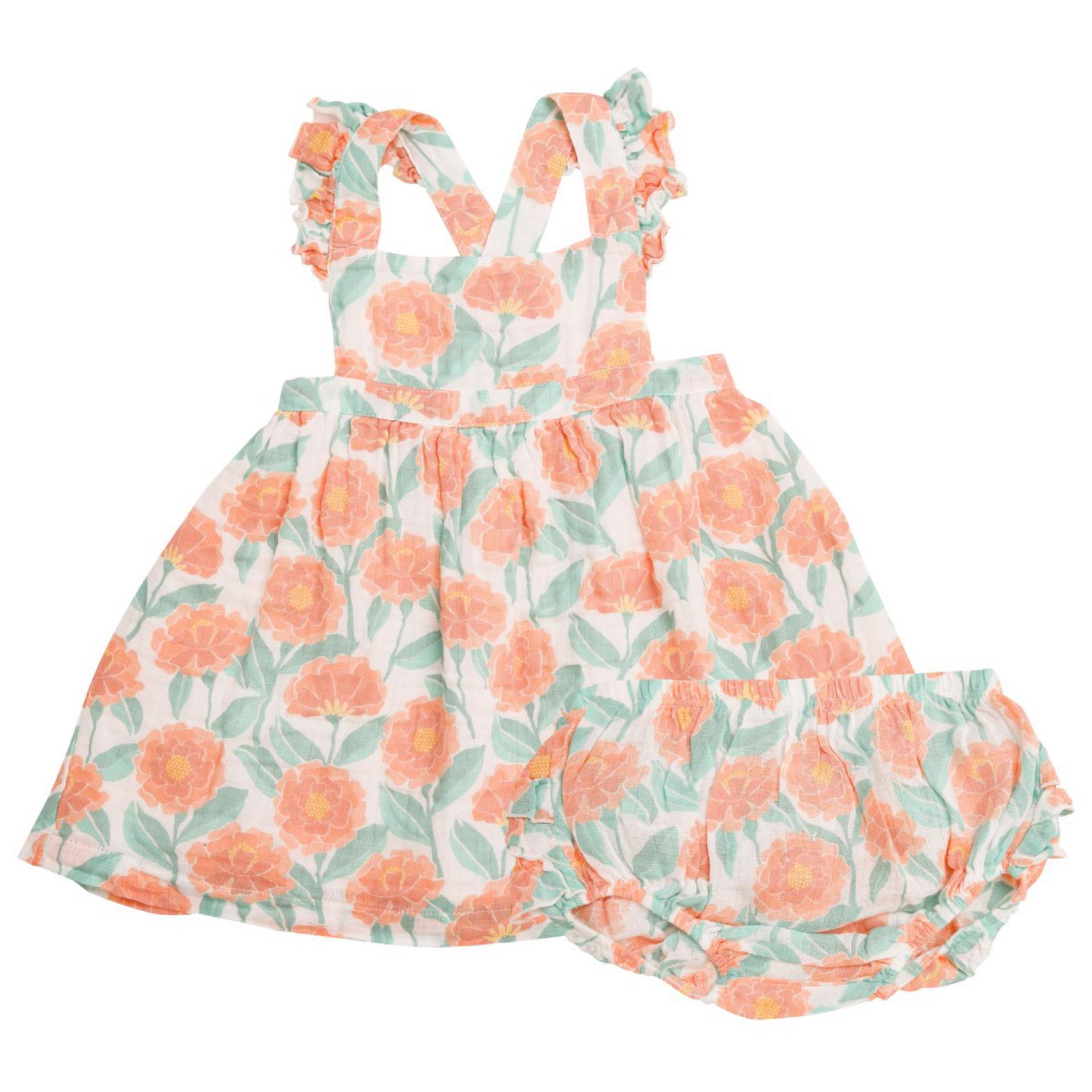 Marigold Garden Pinafore Top And Bloomer Orange
