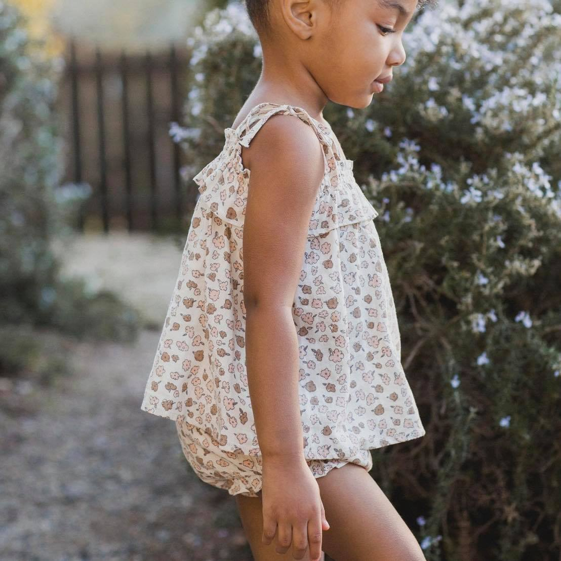 Rylee & Cru Delicate Flower Top & Bloomers