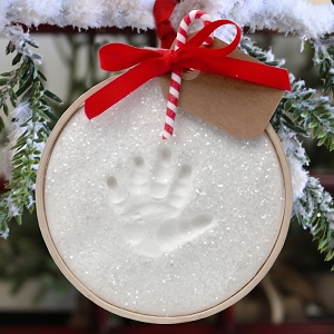 Claydough Snowprints Handprint Ornament Kit