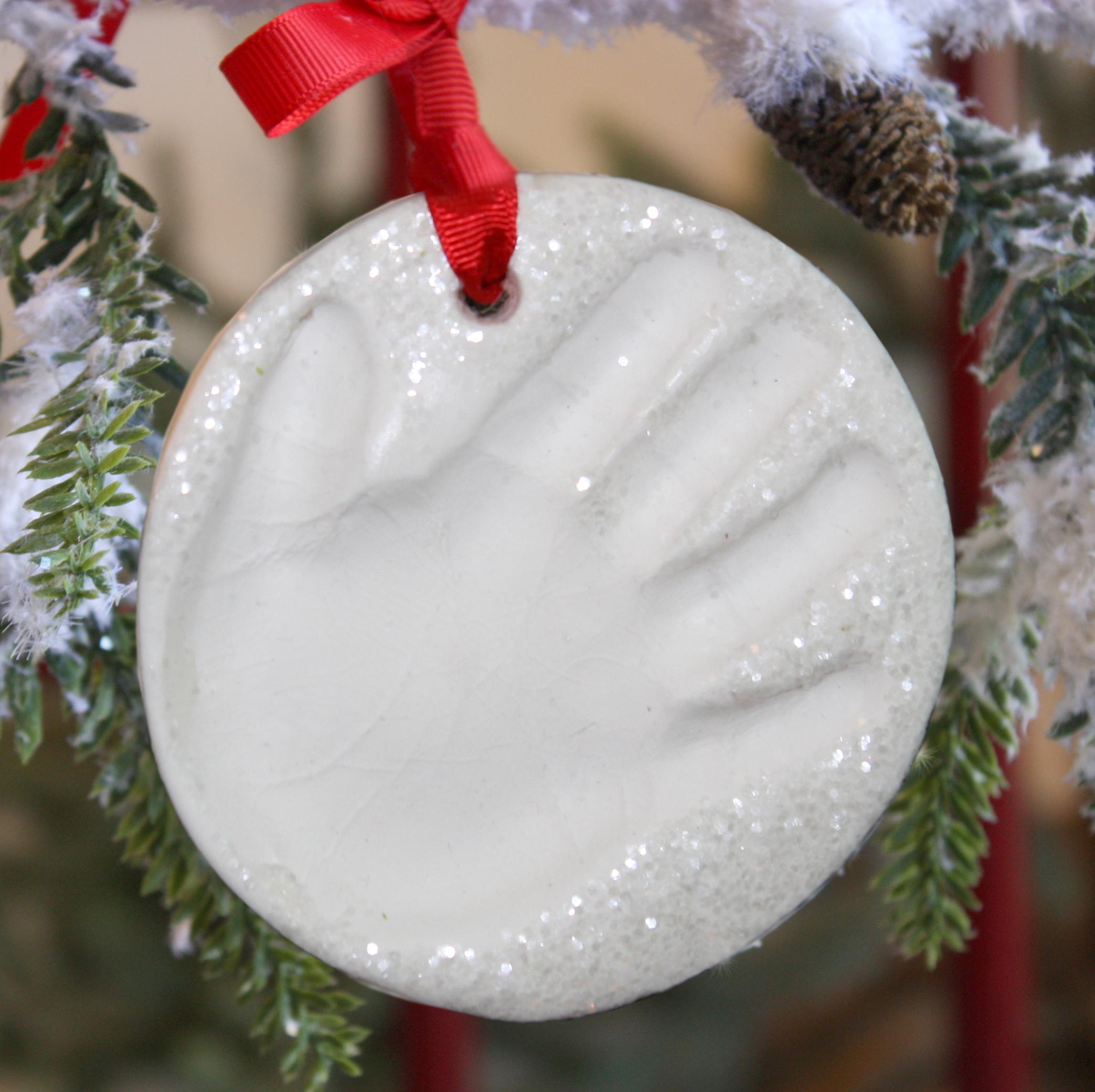 Child to Cherish Snowprints Handprint Ornament Kit