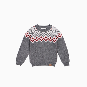 Boy's Knit Sweater - Fair Isle