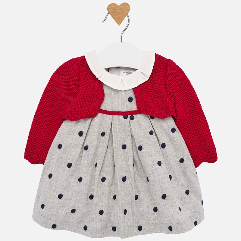 Mayoral Dress Baby Girl - Polkadot