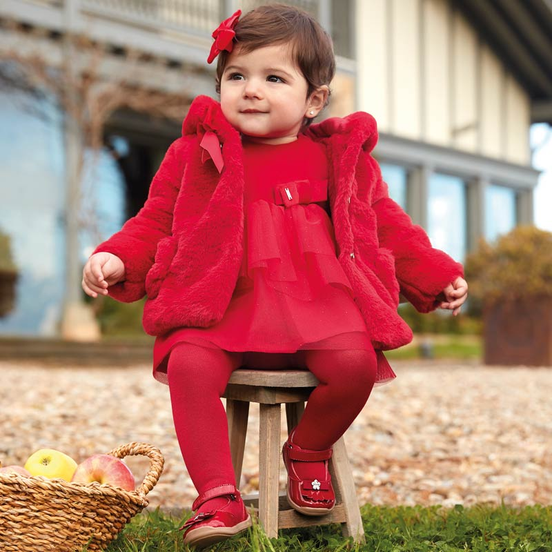 Velvet Dress Baby Girl - Red