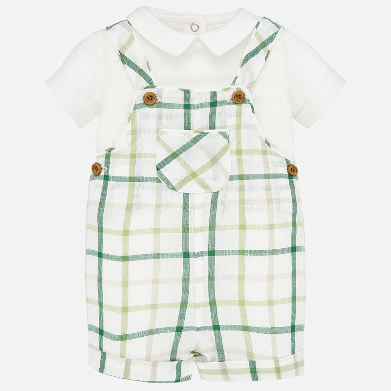 Green Overall & Shirt Set