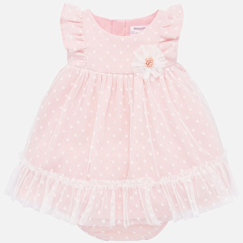 Newborn Pink Tulle Baby Dress