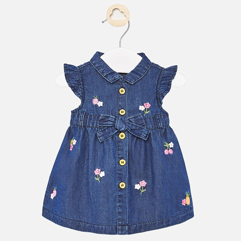 Newborn Baby Embroidered Flower Dress