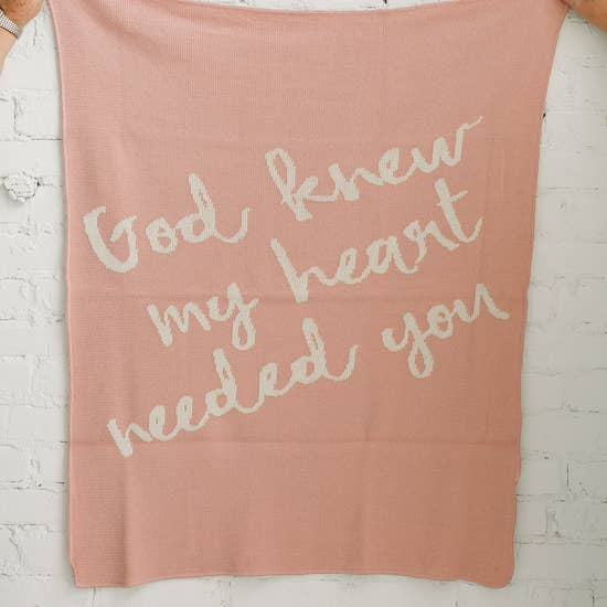 God Knew My Heart Needed You - Blush Pink