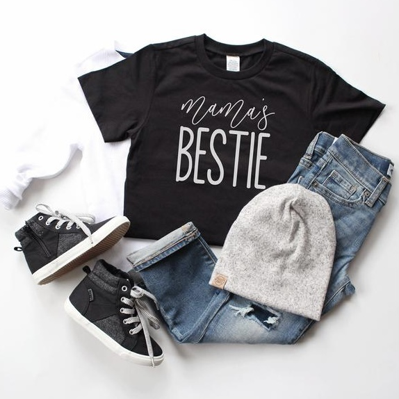 Baby Clothes Boy Shirt Spring Shirt Boys and Girls Clothes Mama/'s Bestie Shirt Toddler Clothes Girls Shirt Toddler Boys Shirt