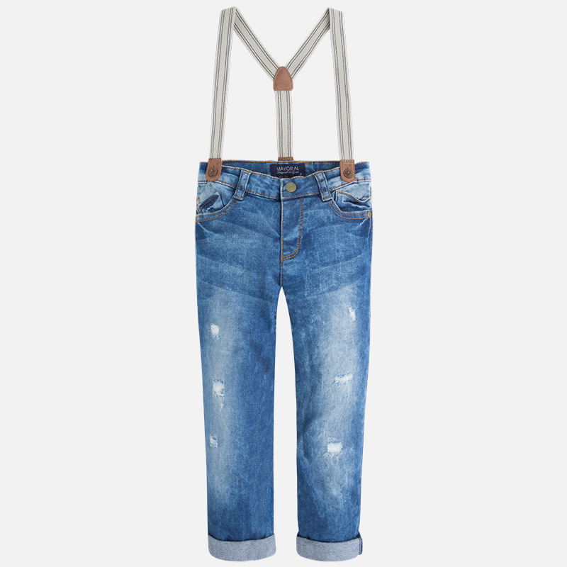 Mayoral Jeans with Suspenders
