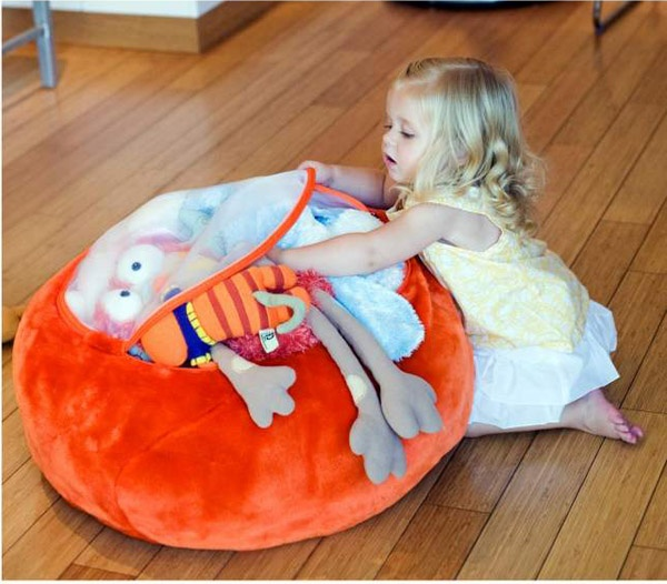 Cute Animal Collapsible Toy Storage Organizer Folding: Boon Stuffed Animal Storage Bag