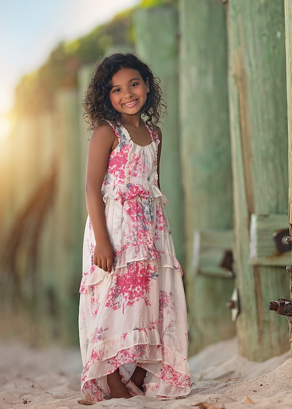 A gorgeous flowing dress she'll love to wear! Isobella & Chloe has done it again! | SugarBabies Blog - Bunnies & Bows