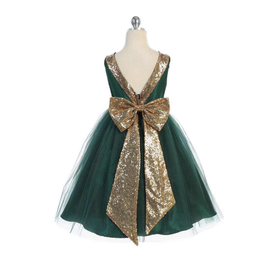 Holiday Hunter Green Sparkle Dress