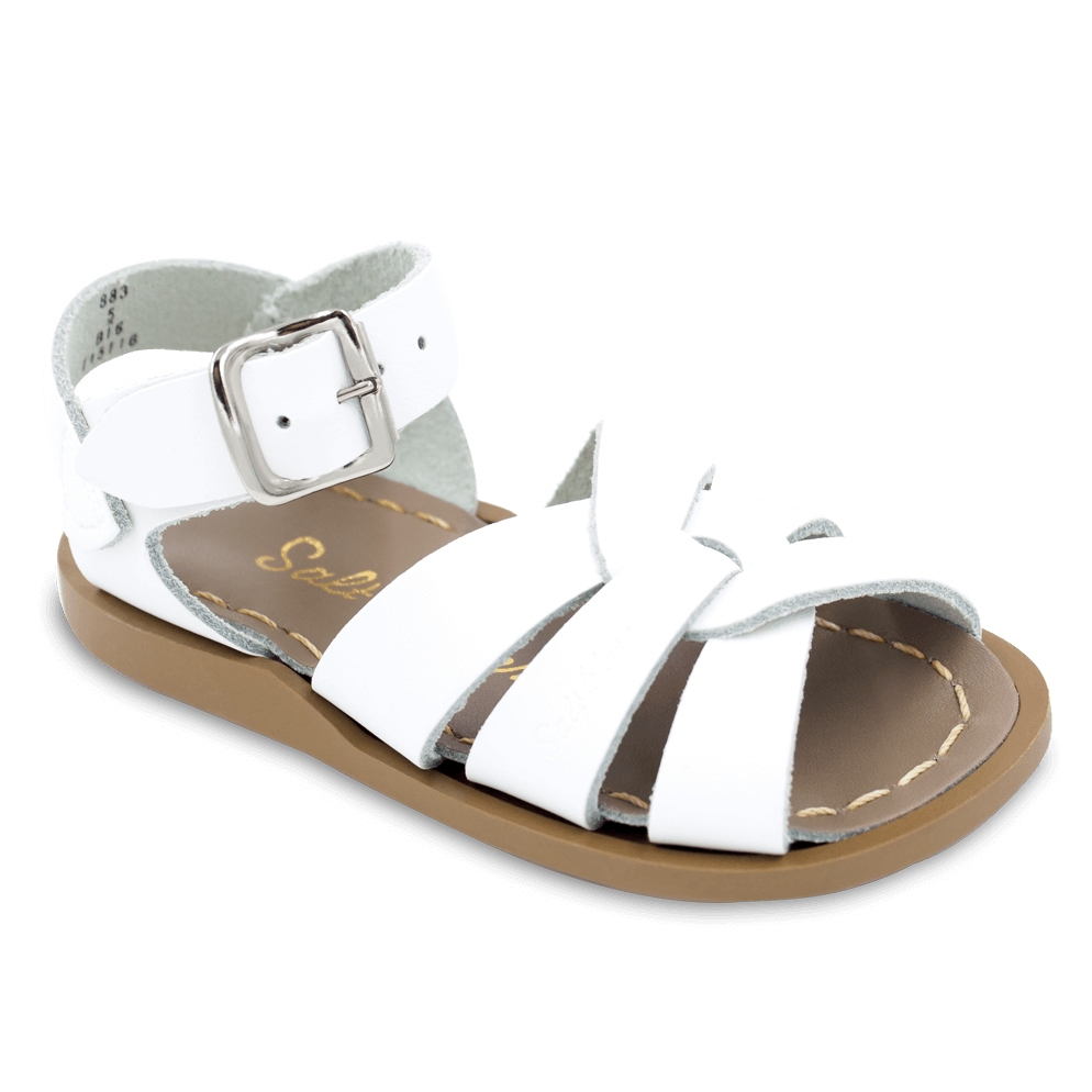 the original salt water sandal in white shop classic salt water sandals by hoy at sugarbabies. Black Bedroom Furniture Sets. Home Design Ideas