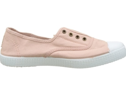 Ladies Ballet Washed Canvas No Lace Shoes