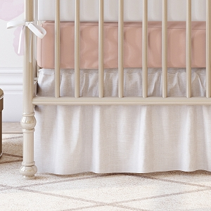 Liz and Roo Crib Sheet - Blush Peach Linen
