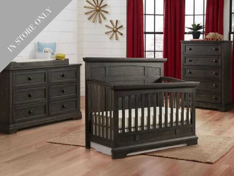 Home Nursery Design Furniture Highland Park Crib Dresser Chest Package Charcoal Boutique Exclusive