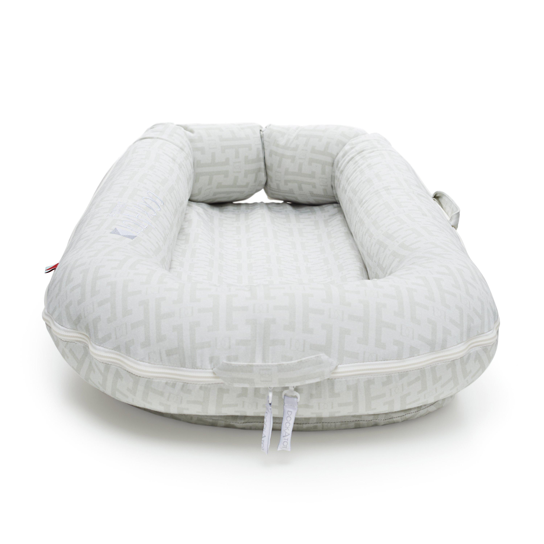 Dockatot Deluxe Signature Grey Baby Lounger Pillows