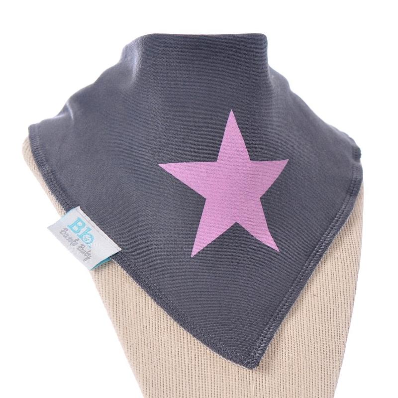 Bazzle Baby Pink Rock Star Bandana Bib | Stylish Drool ...