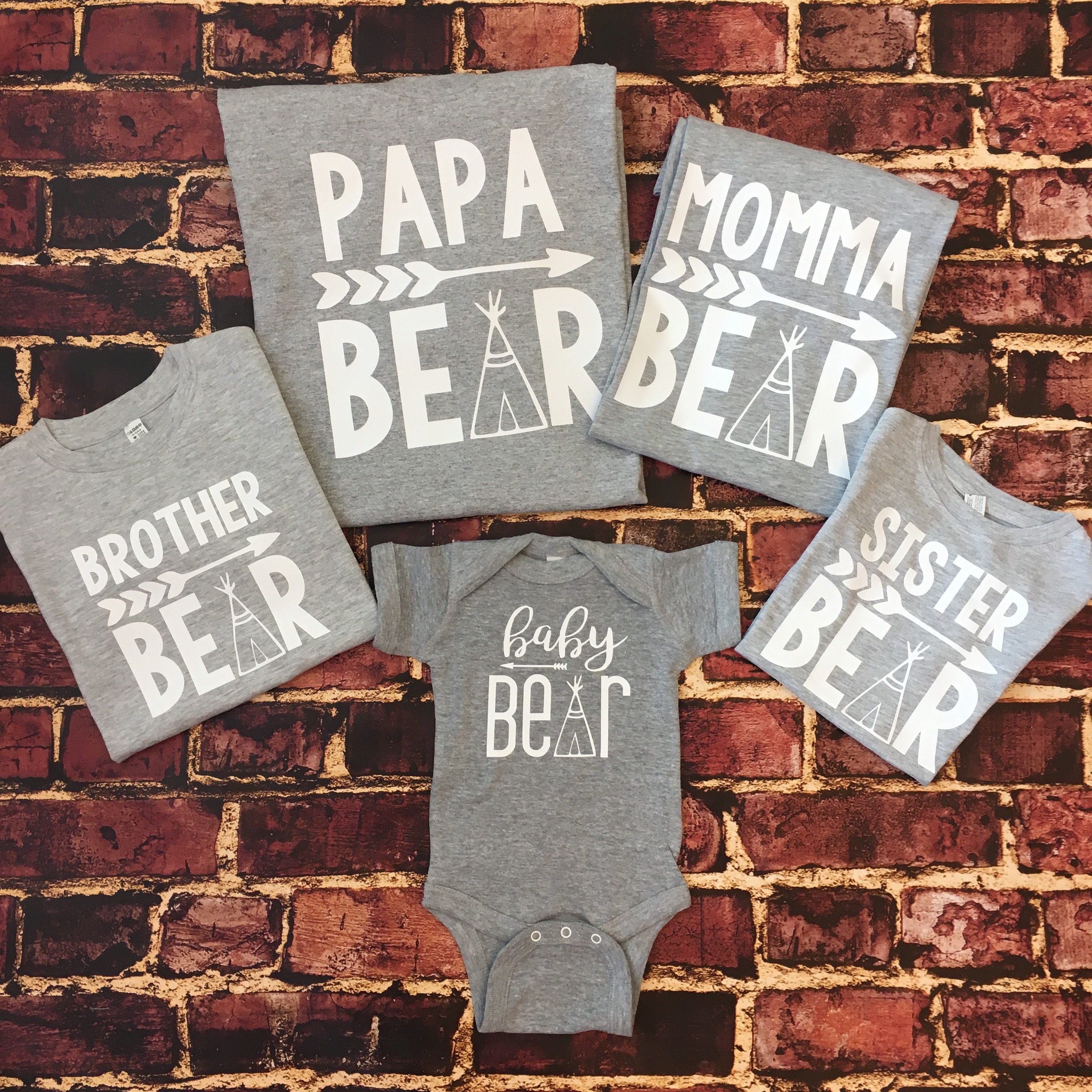 Bear Shirts for the Family - Grey