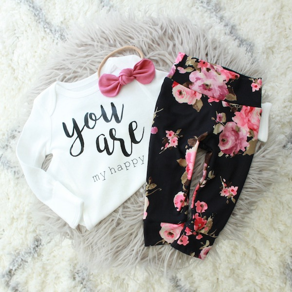 You Are My Happy Floral Take Home Outfit