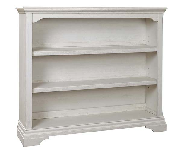 Kerrigan Bookcase Hutch In Rustic White Specialty Baby
