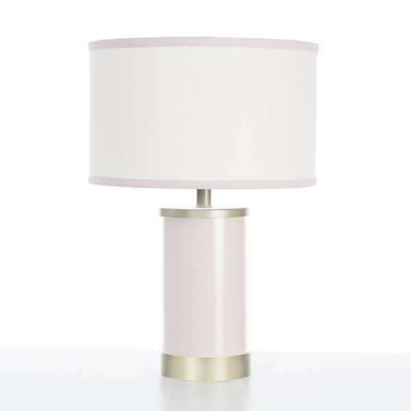 Oilo Blush Table Lamp with Gold Finish