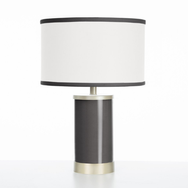Oilo Black Table Lamp with Gold Finish