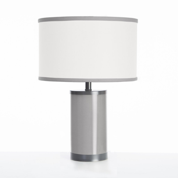Oilo Stone Table Lamp with Gun Metal Finish