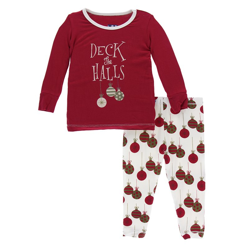 KicKee Pants Pajama Set - Crimson Deck the Halls